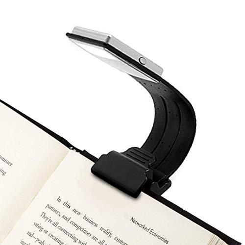4 niveaus instelbaar boeklicht Led-boeklicht Clip op oplaadbare ingebouwde USB-kabel voor boek, e-boek, lezen in bed, Kindle, iPad