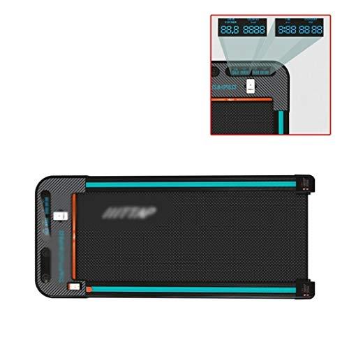 Li Ye Feng Shop Intelligent Remote Control Treadmill home Mini Flat Walking Machine indoor Fitness Silent Walking Machine loading 260kg (Color : Black, Size : 140 * 59 * 12cm)