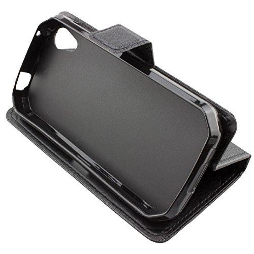 caseroxx Handy Hülle Tasche kompatibel mit Cat S41 Bookstyle-Hülle Wallet Hülle in schwarz
