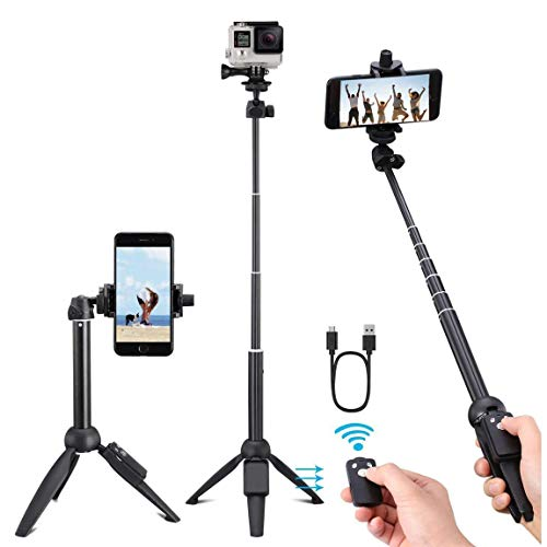 Selfie Stick, 40 Inch Selfie Stick Tripod with Wireless Remote, Phone Tripod Stand Compatible with iPhone 12 11 pro Samsung Note 20 10 S20…