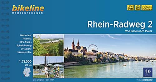 Rhein-Radweg / Rhein-Radweg Teil 2: Von Basel nach Mainz, 1:75:000, 415 km, wetterfest/reißfest, GPS-Tracks Download, LiveUpdate