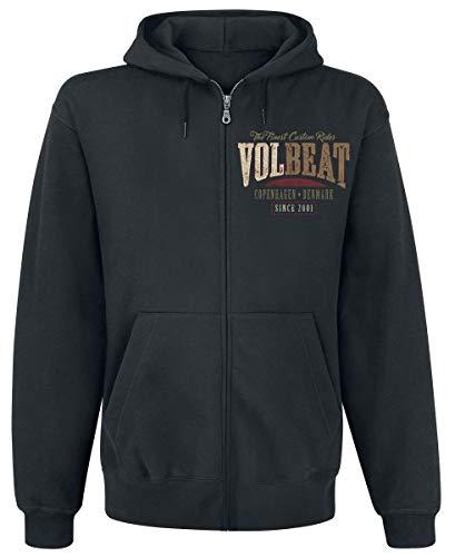 Volbeat Louder And Faster Männer Kapuzenjacke schwarz S 50% Baumwolle, 50% Polyester Band-Merch, Bands