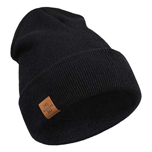 Beanie for Men, Comfortable Breathable Soft Beanie, Winter Hats for Women and Men, Gifts for Him/Her (Black)