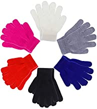Boao 6 Pairs Kids Gloves Full Finger Mittens Winter Knitted Gloves for Little Boys and Girls Supplies (1-4 Years Size)