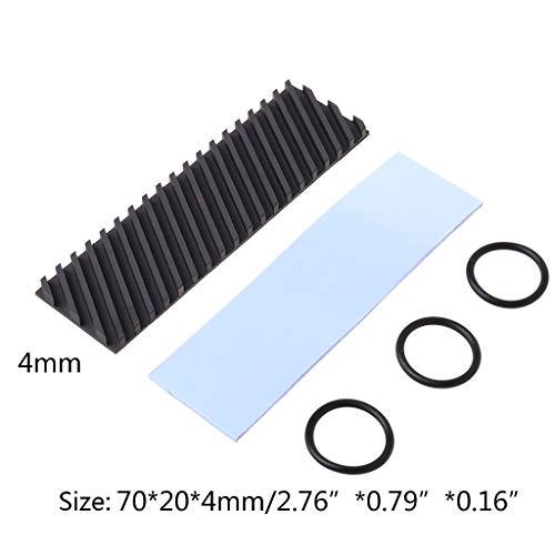 huiingwen Hocheffizienter Graphen-Kühlkörper Aus Reinem Kupfer M.2 NGFF 2280 PCIE NVME SSD-Kühlkörper Wärmeleitpaste Leitfähigkeit Silikon-Waferkühler Für Festplatten