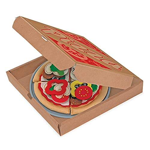 Melissa & Doug Felt Mix 'n Match Pizza Play Food Set (40 pcs), 6, Multicolor