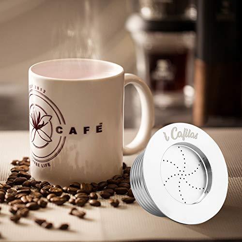 Reutilizable TTAototech C/ápsula de caf/é Recargable Acero Inoxidable Tazas de Filtro de caf/é Filtro de caf/é Compatible con m/áquinas Dolce Gusto Taza de caf/é Recargable de Metal