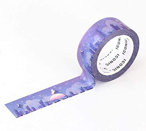 【ICONIC DESIGN】アイコニック マスキングテープ グラデーション 2個セット (001 フルムーン) マステ セット アレンジ 活用 ラッピング イラスト