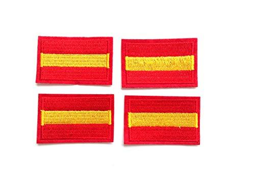 4 pcs Parches bordados España