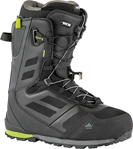 Nitro Herren Incline TLS Boot´21 Snowboardboot, Black-Lime, 290