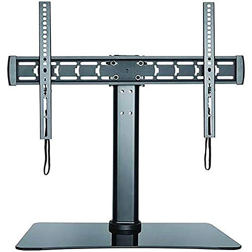 stanley tv stands Stanley 32 70-Inch Adjustable Tabletop TV Stand with Glass Base, Black