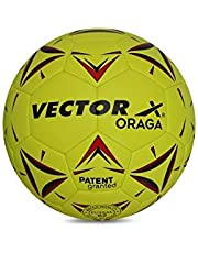 Vector X ORAGA Thermofused Futsal Ball (32panels) (Yellow-Red)