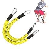 Shipenophy Material de látex Natural Resistente al Desgaste Entrenador de Salto Ejercitador de Rebote Durable, Forma del Cuerpo, Baloncesto(Yellow)