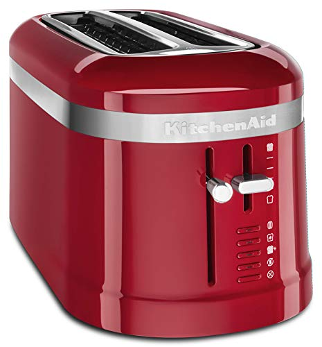 kitchen aid 4 slice toasters KitchenAid KMT5115ER 4 Slice Long Slot High-Lift Lever Toaster, Empire Red