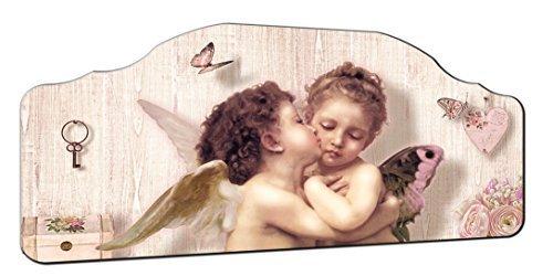 Lupia Quadro capezzale Angels 50x100 cm su tavola Lavorata Romantic Kiss