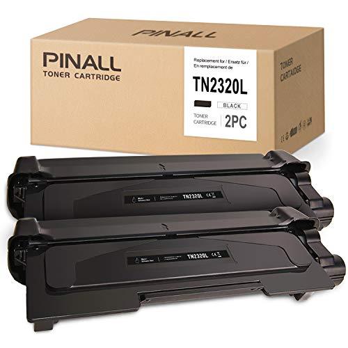 PINALL 5200 Seiten 2 Toner TN-2320 XXL Kompatibel mit Brother TN-2320 TN2320 TN-2310 für Brother MFC-L2700DW MFC-L2700DN MFC-L2740DW L2720DW HL-L2340DW HL-L2360DN HL-L2365DW DCP-L2540DW DCP-L2540DN