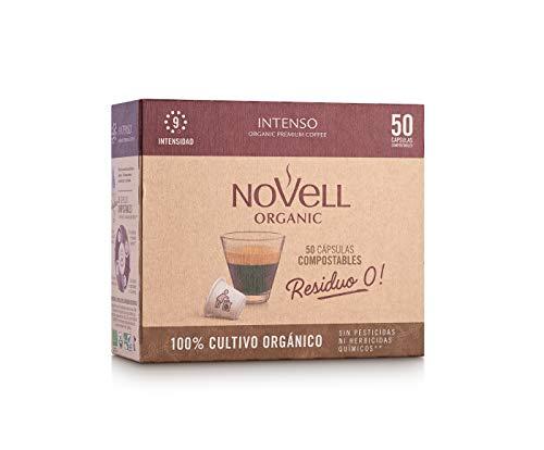 Cafés Novell Cápsulas Compostables con café Ecológico - Intenso - 50u