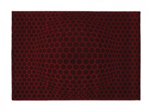 Lars Contzen Teppich Honeycombballs 654 rot 80 x 150 cm Design Teppich