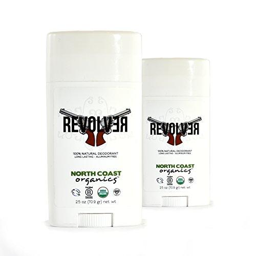 North Coast Organics All Natural Deodorant: Revolver 2.5oz - Cedarwood & Sage - Aluminum, Paraben FREE - 2 Pack