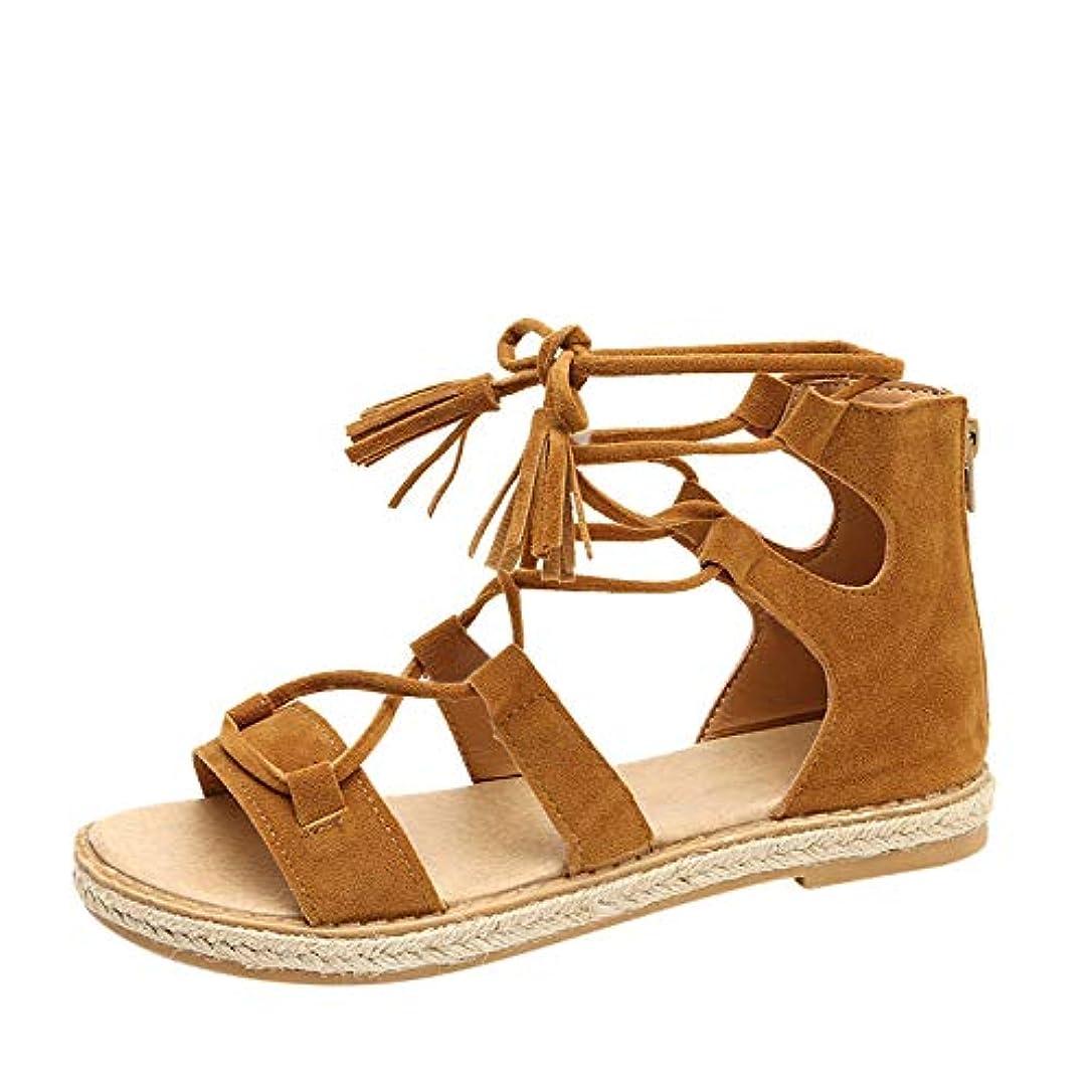 底彼らはタンザニア[Yochyan ブーティー] スリッパ レディース サンダル フラットシューズ アンクルブーツ ファッション おしゃれ パーティー 女性 夏 通気性 レースアップ 無地 オープントー カジュアルシューズ アウトドア靴 レトロシューズ 履き脱ぐ便利 履きやすい