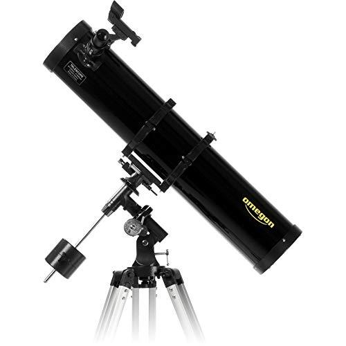 Omegon N 130/920 EQ-2, telescopio de Espejo con Apertura de 130 mm y 920 mm de Distancia Focal