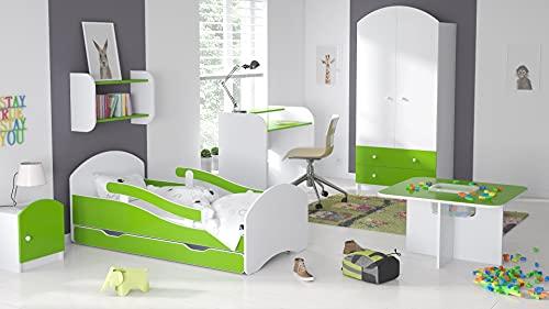 Children's Beds Home - Cama Individual Oscar - Para Niños Niños Niño Niño Junior - Tamaño 180x80, Color Blanco - Lima, Cajón No, Colchón 12 cm de Alta Resistencia Látex