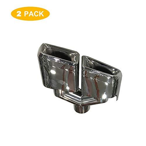 Super-ZS 2 × Auto-Schalldämpfer Doppelauslass Silber Auspuff modifiziert Heckhals geeignet für Mercedes-Benz W204 / C-Klasse / W212 / E-Klasse/AMG / C63 / E63