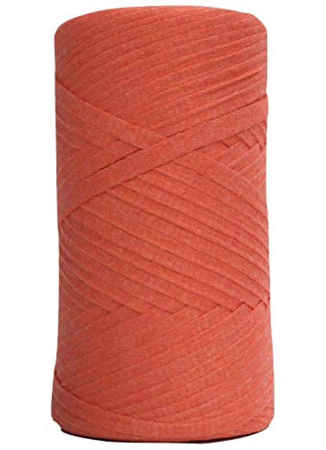 Tape Yarn 150 Yards/Cotton Tape Yarn/Bulky Yarn/Fast Track/Crochet/Knitting Yarn/XL Yarn/Modern Crochet/Ribbon Yarn (Orange)