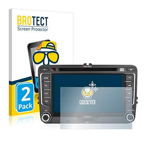 "BROTECT 2X Entspiegelungs-Schutzfolie kompatibel mit Zenec E>Go 7\"" Displayschutz-Folie Matt, Anti-Reflex, Anti-Fingerprint"