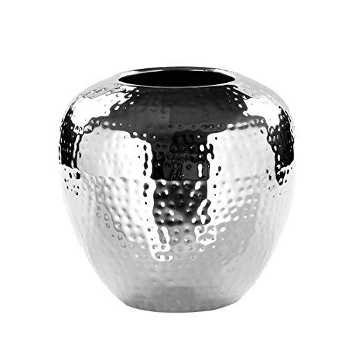 Fink LOSONE Vase aus Edelstahl, Silber, 20 x 20 x 20 cm