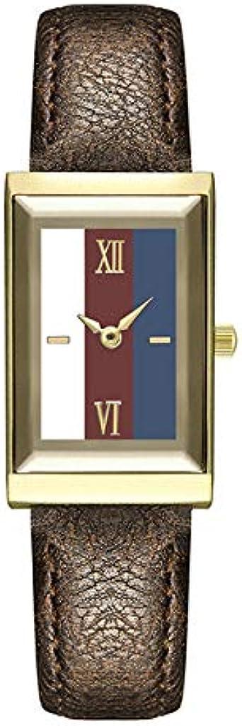 Reloj De Mujer Dial Cuadrado Sra. Fashion Reloj De Cuarzo Reloj De Correa De Cuero De Moda Casual