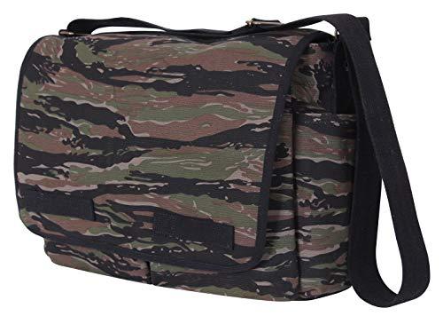 Rothco Vintage Unwashed Canvas Messenger Bag, Tiger Stripe Camo