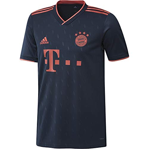 adidas Herren FCB 3 JSY T-Shirt, Maruni/Rojbri, L