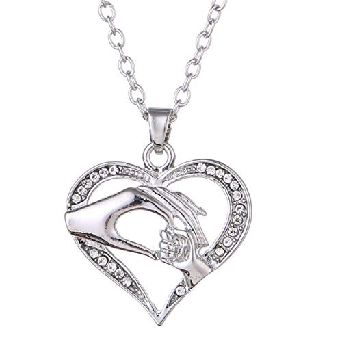 Simple Exquisite Rose Gold Moms Love Shaped Diamond Necklace Cebbay Necklace for Women