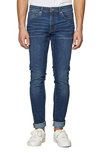 ESPRIT Herren 999Ee2B803 Slim Jeans, Blau (Blue Dark Wash 901), W36/L34 (Herstellergröße: 36/34)