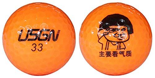 zeencaGolf Nächstes Spiel Ball Golf 2 Layer Orange EIN Langstreckenball Spielball 6 Pc