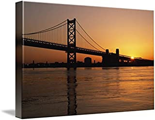 Imagekind Wall Art Print Entitled Benjamin Franklin Bridge Philadelphia, Pennsylvan by Design Pics | 10 x 6