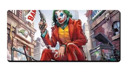 Zenghh Film-Charakter Mauspad Extra Large Größe Batman Joker Eric Border Superman Held bewegliche faltbare 35,4 X 15.7in Low-Friction-Tracking-Oberfläche mit abgesteppten Kanten