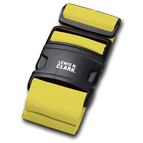 Lewis N. Clark Add a Bag Adjustable Tie Down Straps for Luggage Security, Neon Yellow, One Size