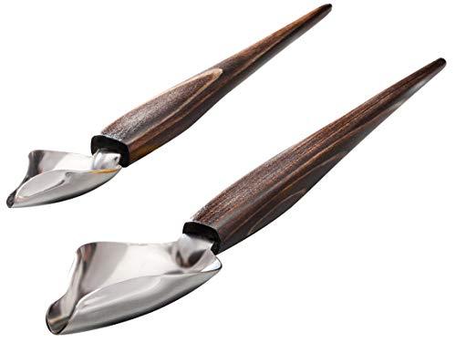 Küchenprofi 0805012502 - Cucchiai per Decorazioni, in Legno, 2 pz