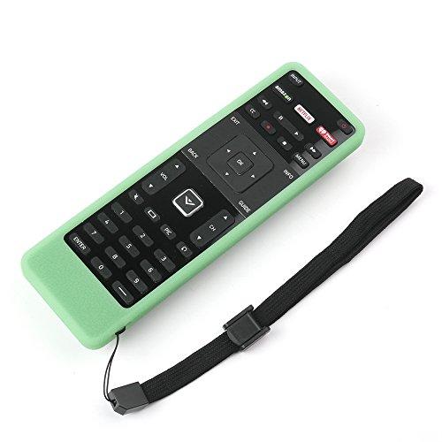SIKAI Remote Case for Vizio XRT500 Smart TV Remote [Eco-Friendly] Case for VIZIO Smart LCD LED TV Remote Control [Shock Proof] Silicone Cover for Vizio XRT500 Remote with Lanyard (Luminous Green)