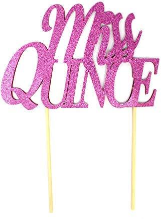 Miss Quince Tortenaufsatz zum 15. Geburtstag, Quinceanera, Quince Anos, Rosa