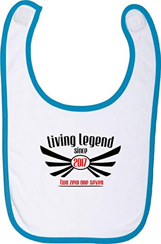 Camiseta stown Living baberos Legend Since 2017Two Zero One Seven azul Talla:talla única