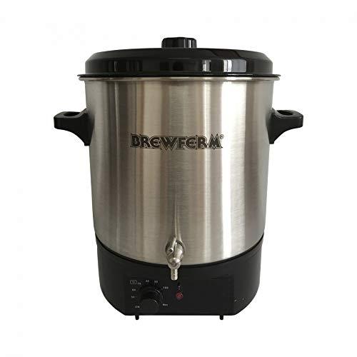 Brewferm® elektrischer Braukessel 27L - Edelstahl, 2000 Watt Leistung, Bierbrauanlage, 20L Brauvolumen, Bier brauen