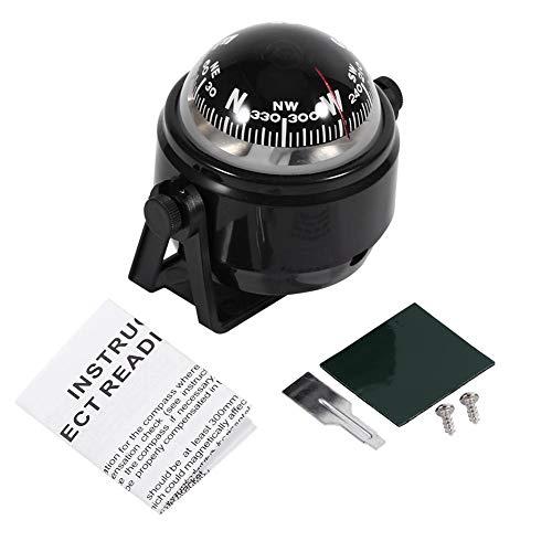 VGEBY1 kompas boot, instelbare navigatie nachtzicht kogelkompas bootskompas met houder voor boot auto motorfiets vrachtwagen