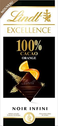 LINDT & SPRÜNGLI Chocolat Noir 100% Orange 50 g