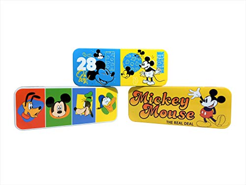 Set of Three Mickey Mouse Pencil Cases for School