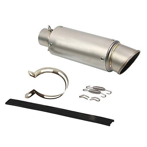 KKmoon Universale 51mm Silenziatore Marmitta, Silenziatore di Scarico,Tubo Silenziatore in Acciaio Inossidabile per Moto Modificate