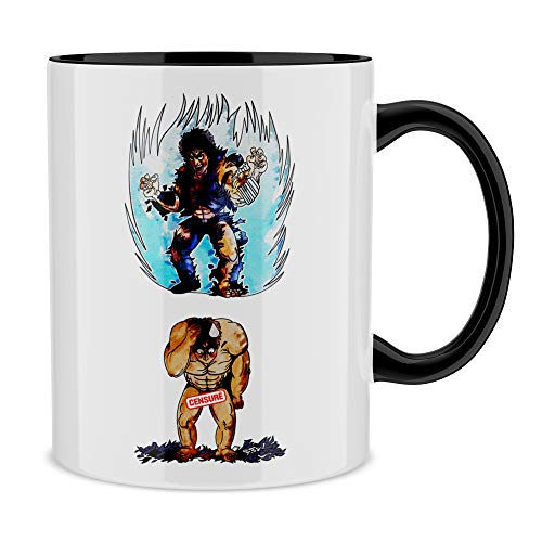 Okiwoki Mug avec Anse et intérieur de Couleur (Noir) - Parodie Ken Le Survivant - Kenshiro - Trop de Puissance. !!! : (Mug de qualité supérieure - imprimé en France)