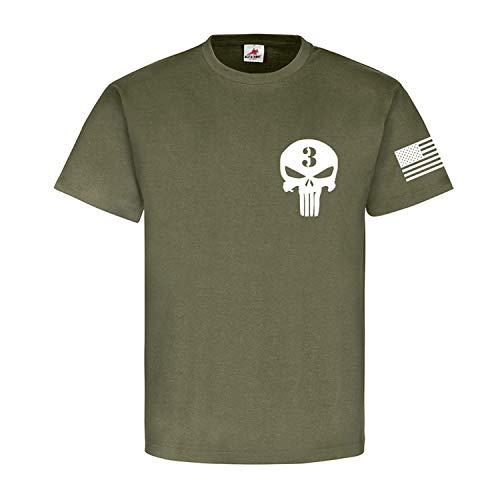 The Sniper Legend USA Amerika USMC Us Marine Corps - T Shirt #17762, Größe:XL, Farbe:Oliv